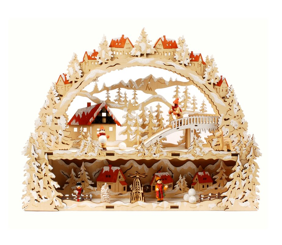 Jeco Inc. Laser Cut Christmas Village With Lights