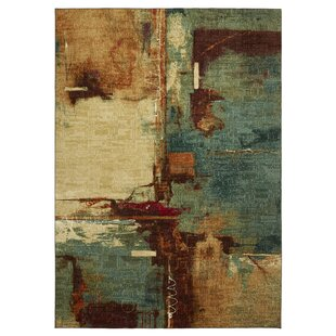 Reviews Florencia Aqua/Tan Area Rug By Langley Street