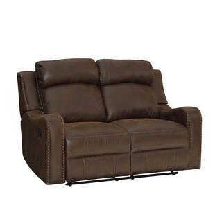 Candida Curved Track Arms Reclining Loveseat by Williston Forge