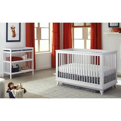 Mack & Milo Thietmar 2-in-1 Convertible 2 piece Crib Set Color: White