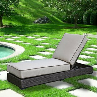 Rosecliff Heights Ewing Reclining Chaise Lounge with Cushion