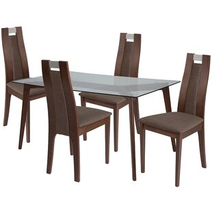 Troy 5 Piece Dining Set by Ebern Designs