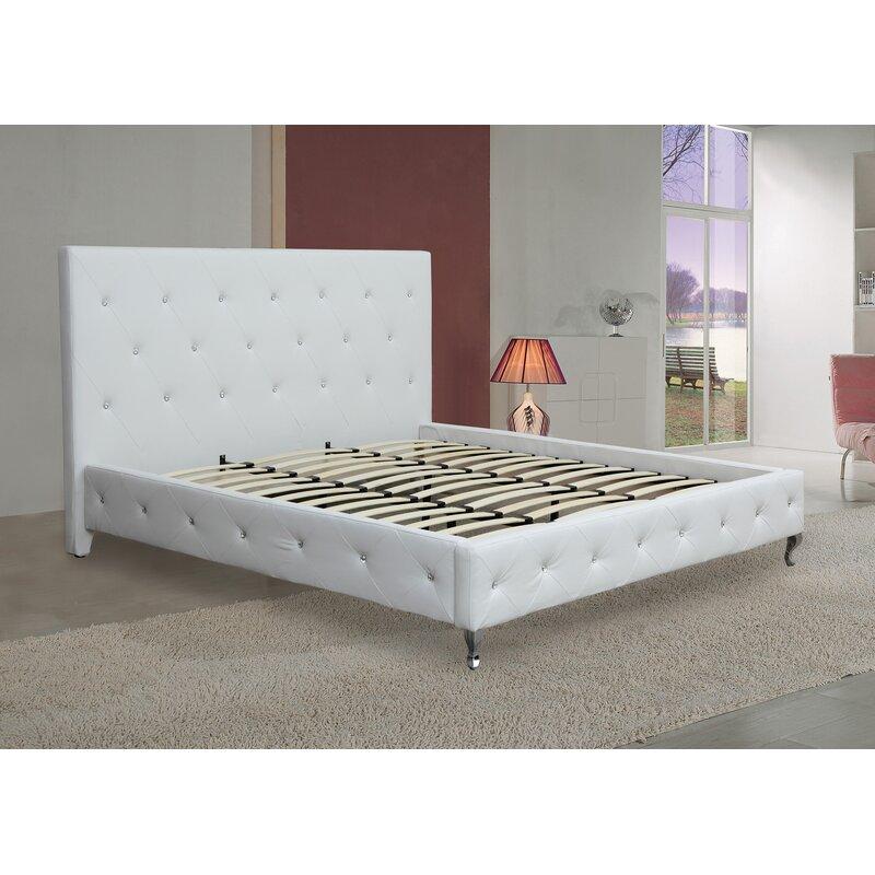 House Of Hampton Aime Upholstered Low Profile Platform Bed Reviews Wayfair Ca