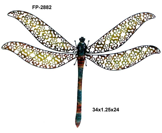 Delightful Metal Dragonfly Wall Décor