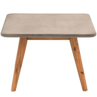 Gretchen Solid Wood And Concrete Coffee Table By Isabelline