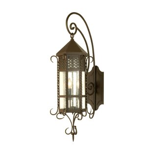 3-Light Outdoor Wall Lantern By Meyda Tiffany