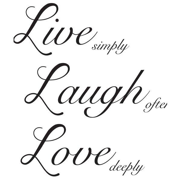 Live Laugh Love Wall Decal | Wayfair