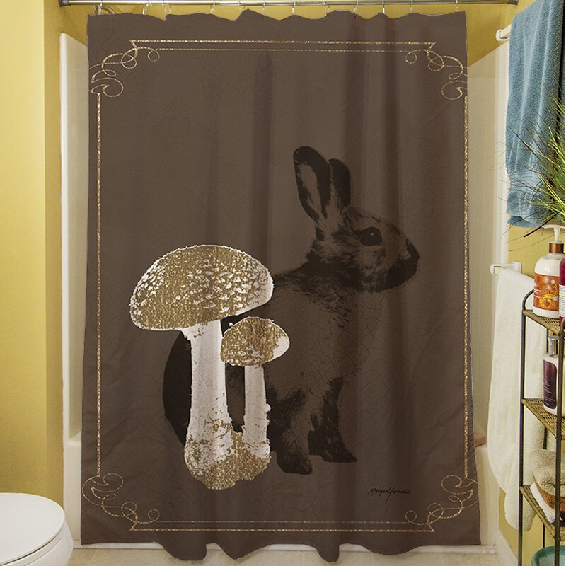 Manual Woodworkers Weavers Luxury Lodge Rabbit Shower Curtain