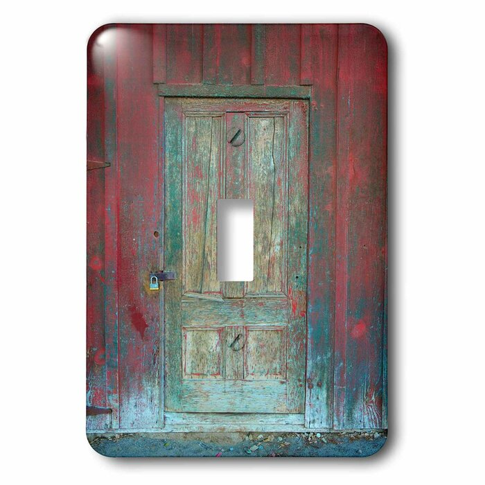Rustic Wooden Door 1 Gang Toggle Light Switch Wall Plate
