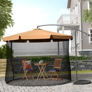 Anthea 10' Cantilever Umbrella by Beachcrest Home