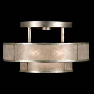 Singapore Moderne 3-Light Semi Flush Mount by Fine Art Lamps