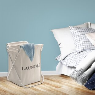 Aluminum X-Frame Folding Laundry Hamper By Rebrilliant