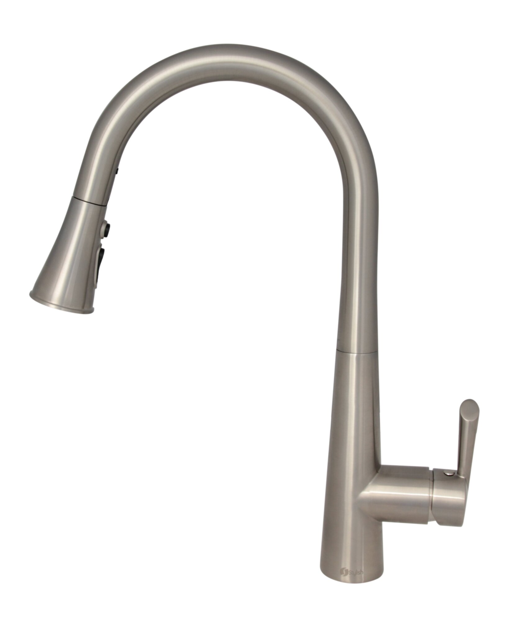 Stylish Pull Down Single Handle Kitchen Faucet With Side Spray Wayfair Ca