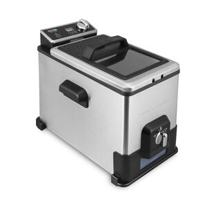 4 Liter Deep Fryer with Oil Filtration System and 3-basket System