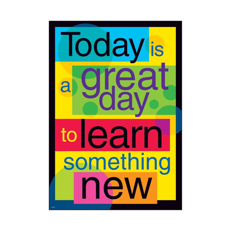 Today is A Great Day to Learn Something New Poster
