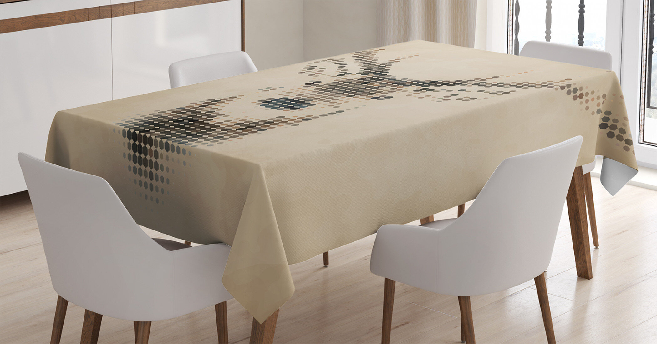 Ambesonne Vintage Table Runner Dining Room Kitchen Decor in 3 Sizes