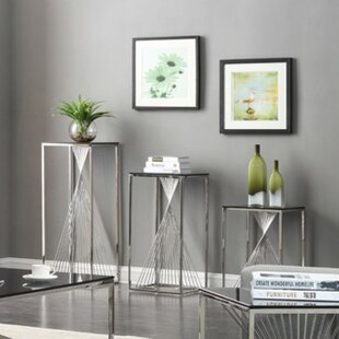 Kendra 3 Piece End Table Set by Willa Arlo Interiors