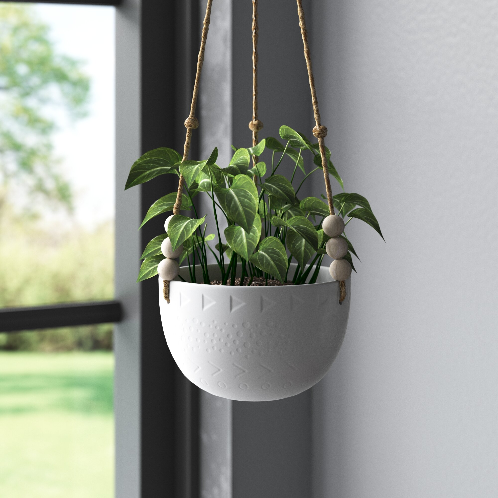 Veloz Ceramic Hanging Planter Reviews Joss Main