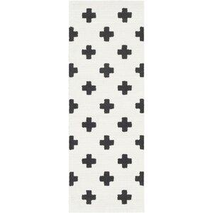 Krehbiel Bohemian Black/White Area Rug
