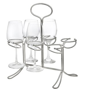 6 Bottle Tabletop Wine Glass Rack by Godi..