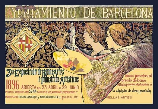 Buyenlarge Ayuntamiento De Barcelona Vintage Advertisement Wayfair