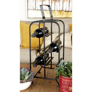 Metal 8 Bottle Floor Wine Bottle Rack by ..