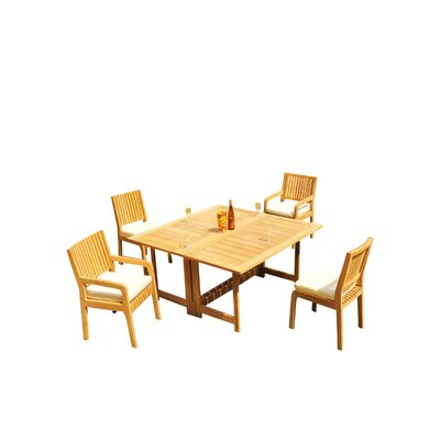 Mastin 5 Piece Teak Dining Set by Rosecliff Heights Cheap