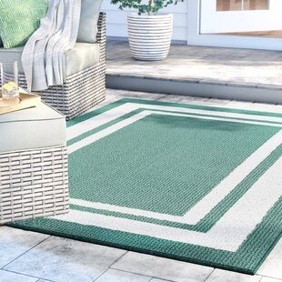 Ackerson Green/White Indoor/Outdoor Area Rug