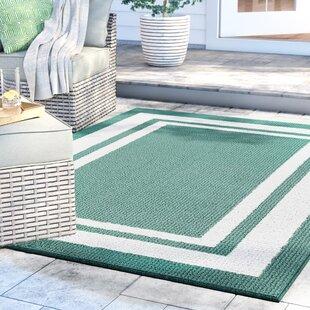 Ackerson Green/White Indoor/Outdoor Area Rug