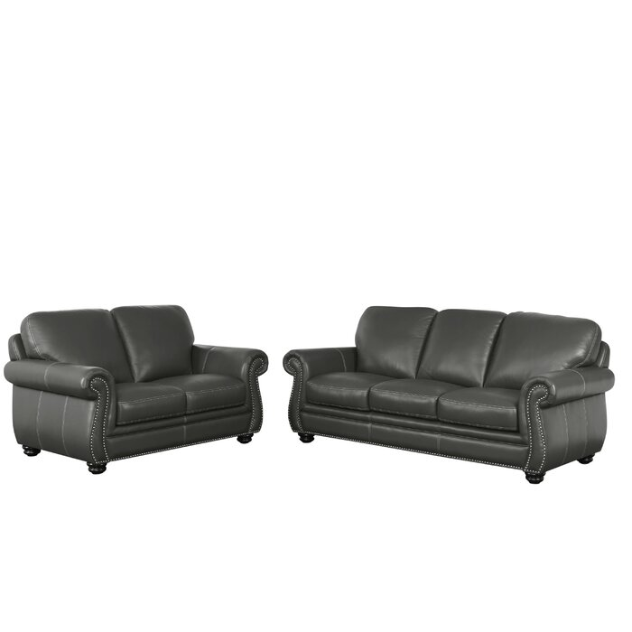 Fairdale 2 Piece Leather Living Room Set