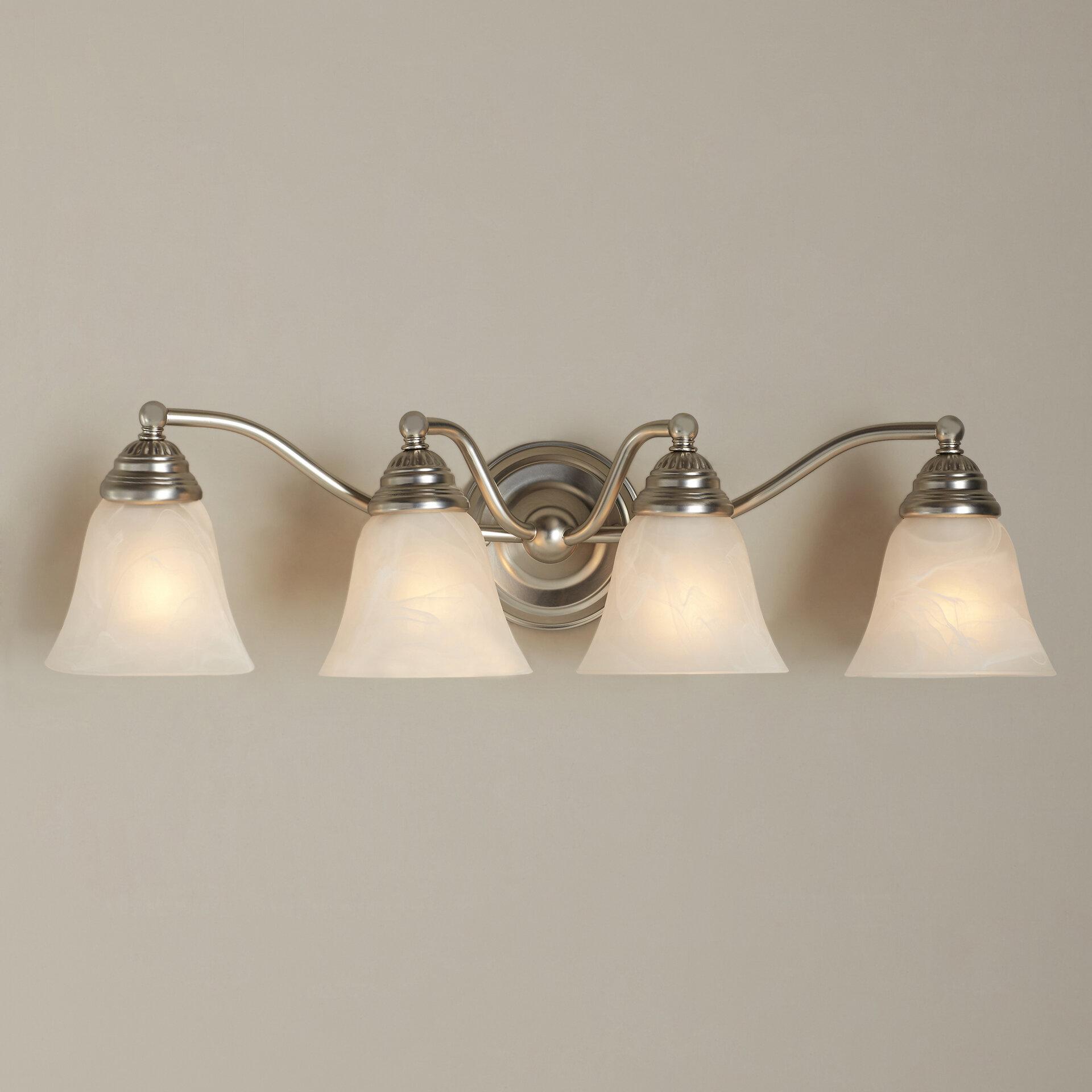 Andover Mills Moyer 4 Light Dimmable Vanity Light Reviews Wayfair