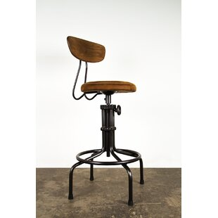 Buck Adjustable Height Swivel Bar Stool by Nuevo Sale