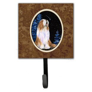 Starry Night Bearded Collie Leash Holder and Wall Hook by Caroline's Treasures