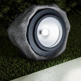 Solar Powered Rock 1 Light LED Pathway Light