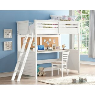 Arabella Wood Twin Size Loft Bed by Harriet Bee Herry Up