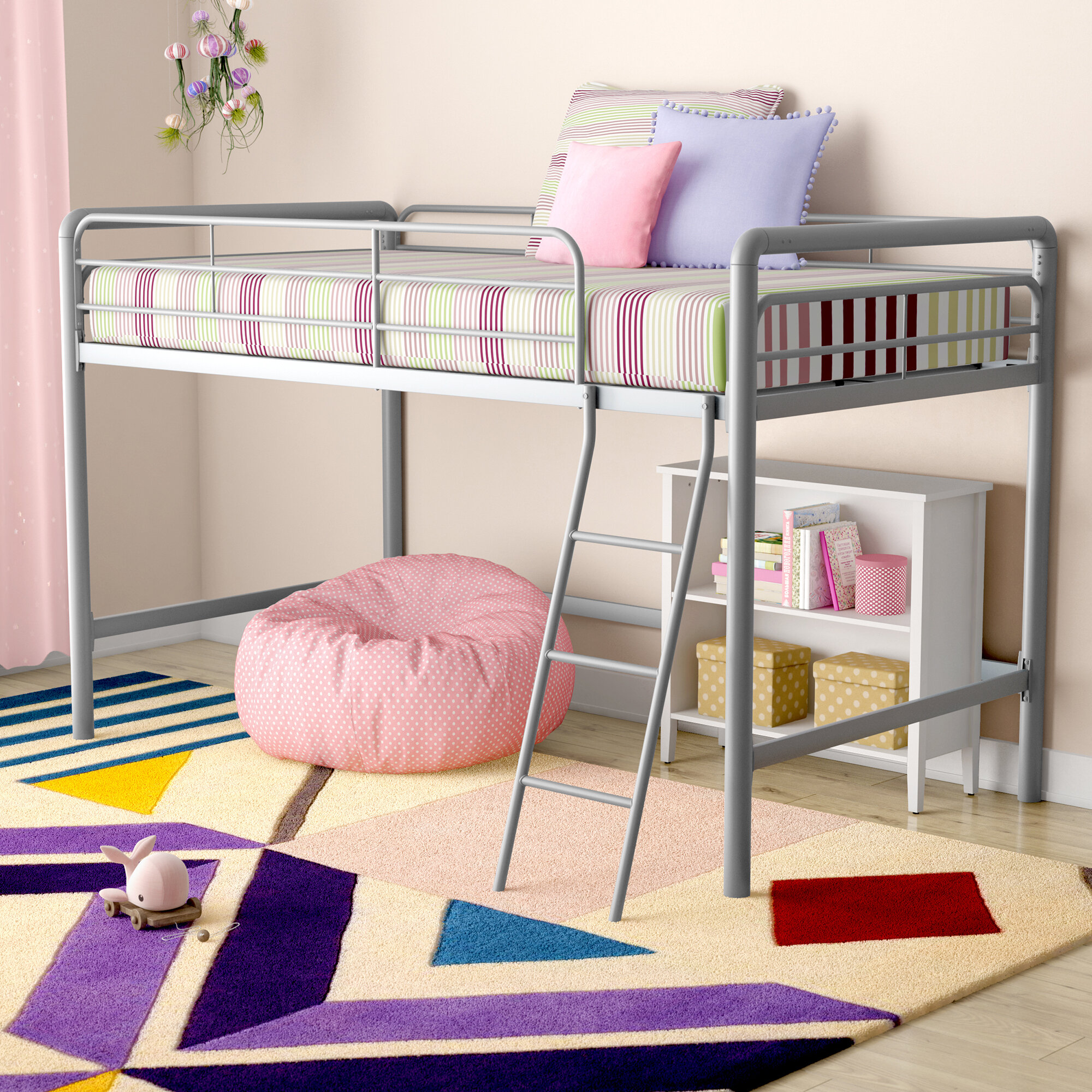Viv Rae Charla Junior Twin Low Loft Bed Reviews Wayfair