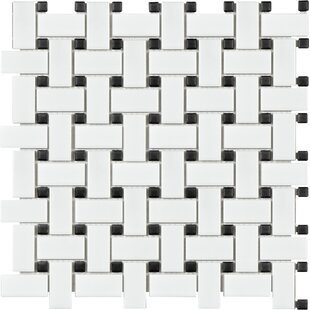 Sail Porcelain Mosaic Tile in Matte White