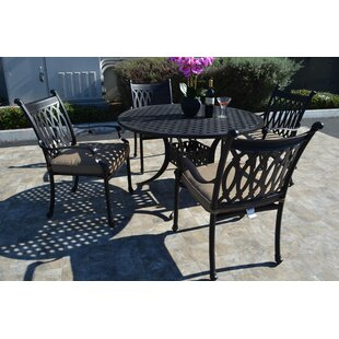 Baragrey 5 Piece Dining Set with Cushions