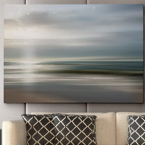 'Setting Sun' by Mike Calascibetta Framed Photographic Print on Wrapped Canvas