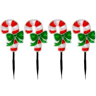 Candy Cane Christmas Double Sided Lighted Display (Set Of 4) By The Seasonal Aisle