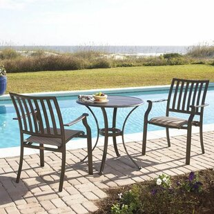 Panama Jack Outdoor Island Breeze 3 Piece Bistro Set