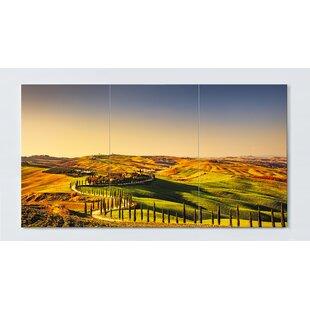 Tuscany Motif Magnetic Wall Mounted Cork Board By Ebern Designs
