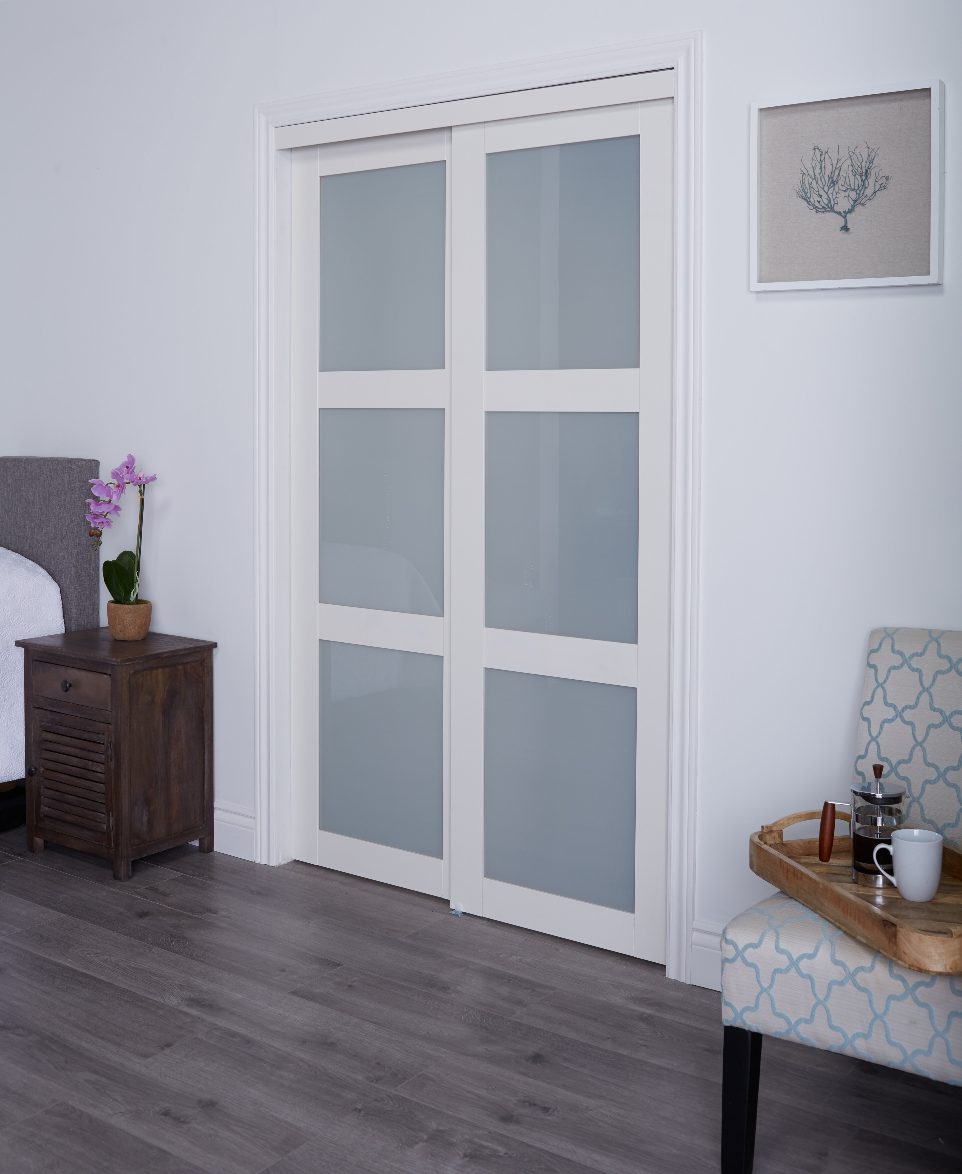 Good Erias Home Designs Baldarassario MDF 2 Panel Painted Sliding Interior Door  U0026 Reviews | Wayfair
