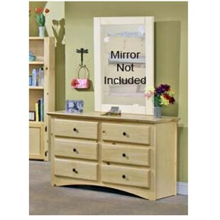 Great choice Alders 6 Drawer Double Dresser by Harriet Bee Reviews (2019) & Buyer's Guide