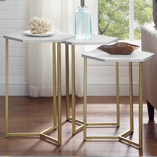 Ivy Bronx Byblos Hex 3 Piece Nesting Tables