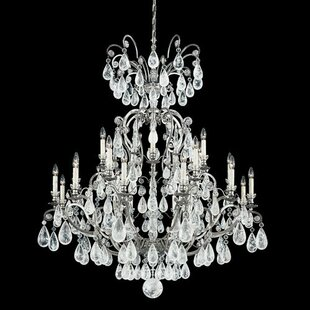 Versailles Rock Candle Style 24-Light Candle Style Chandelier by Schonbek
