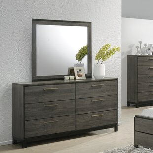 Great Price Mandy 6 Drawer Double Dresser with Mirror by Gracie Oaks