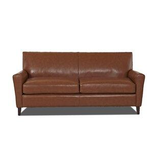 Shop Grayson Leather Sofa by Wayfair Custom Upholstery™