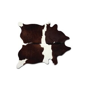 Reviews Abhinav Hand Woven Chocolate/White Cowhide Area Rug By 17 Stories