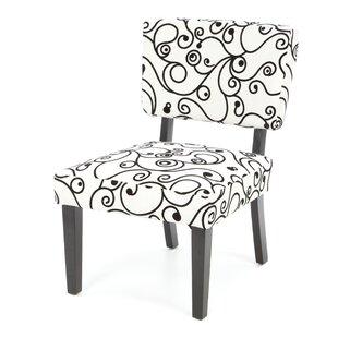 Ebern Designs Blair Floral Side Chair